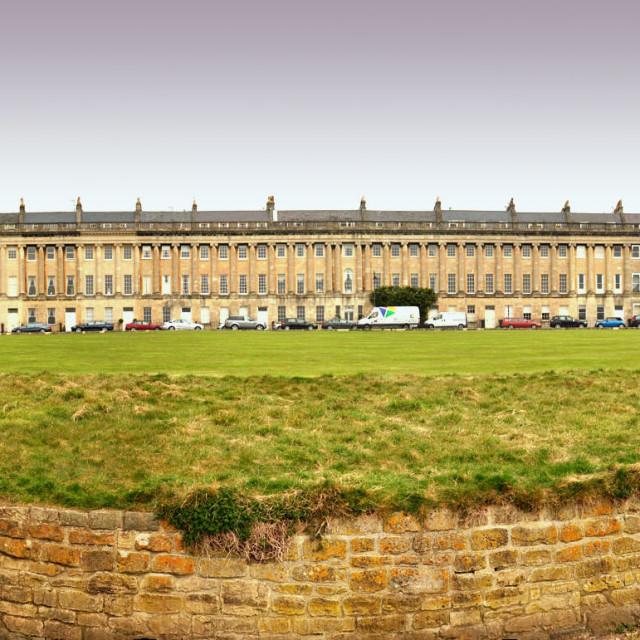 """Bath Royal Crescent panorama"" stock image"