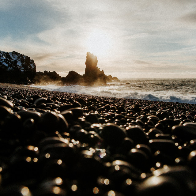 """Black Beach"" stock image"