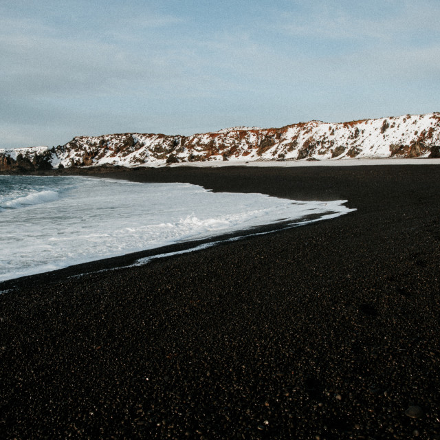 """Black Beach 3"" stock image"