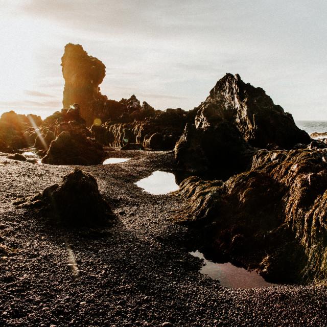 """""""Icelandic Coast 2"""" stock image"""