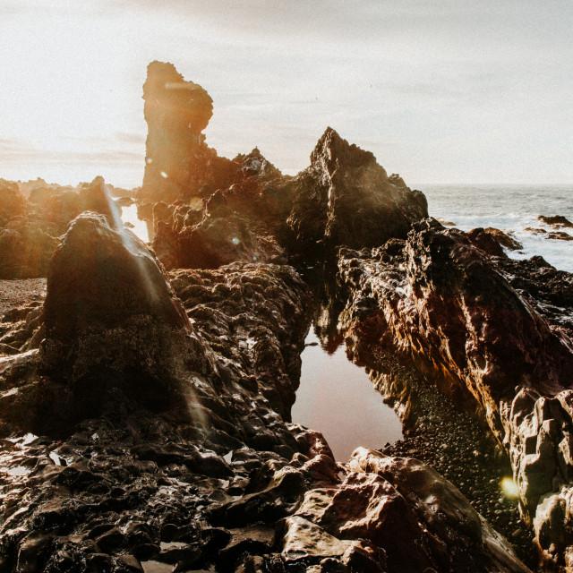 """""""Icelandic Coast"""" stock image"""