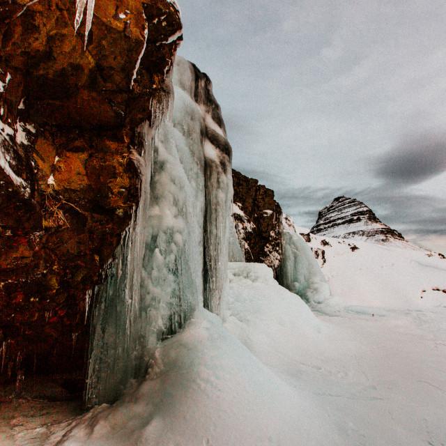 """Skógafoss waterfall"" stock image"
