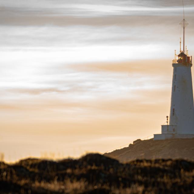 """Reykjanesviti lighthouse"" stock image"