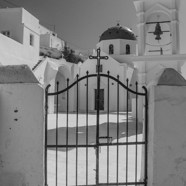 """Anastasis Church Imerovigli"" stock image"