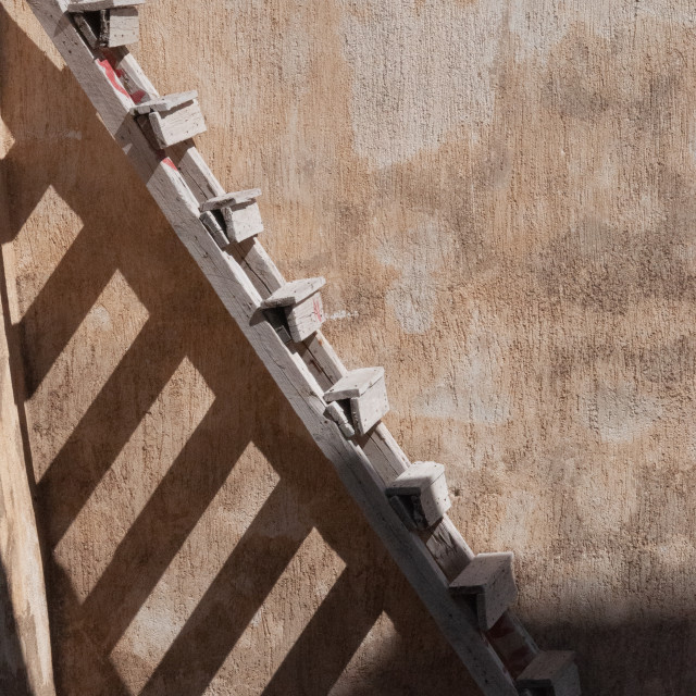 """The Imerovigli Ladder"" stock image"