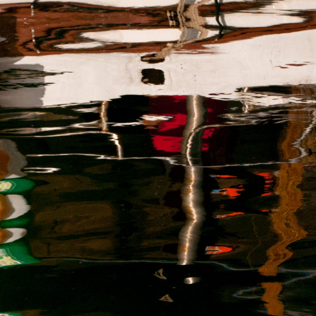 """""""Harbour Reflection"""" stock image"""