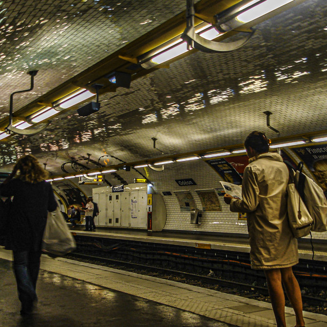 """In The Metro in Paris, France"" stock image"