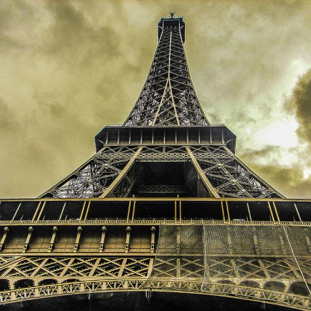 """The Eiffel Tower From Below"" stock image"