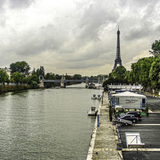 """La Tour Eiffel, The Real Thing, Another View"" stock image"