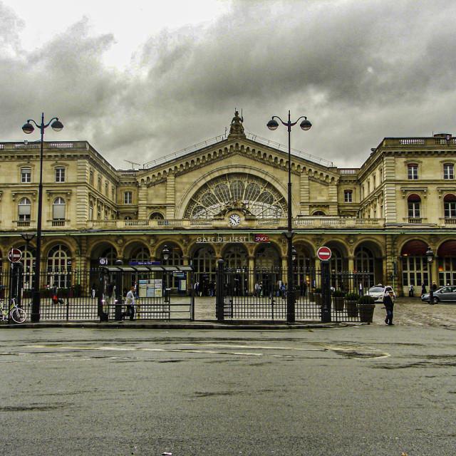 """""""La Gare De L'est"""" stock image"""
