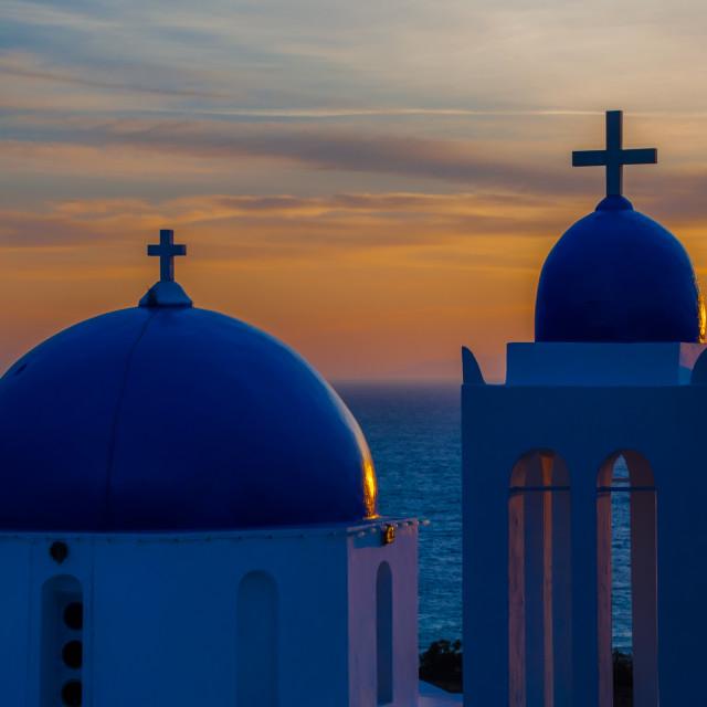 """""""Sunrise @ Agios Georgios"""" stock image"""