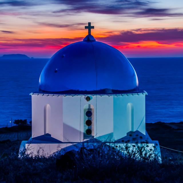 """Sunrise @ Pori Church"" stock image"