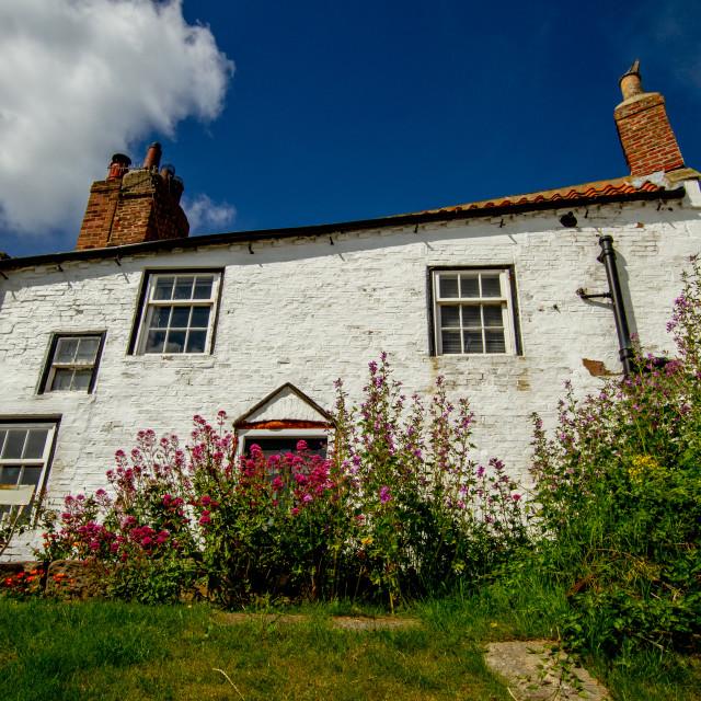 """Robin Hoods Bay, Cottage. Yorkshire, England."" stock image"