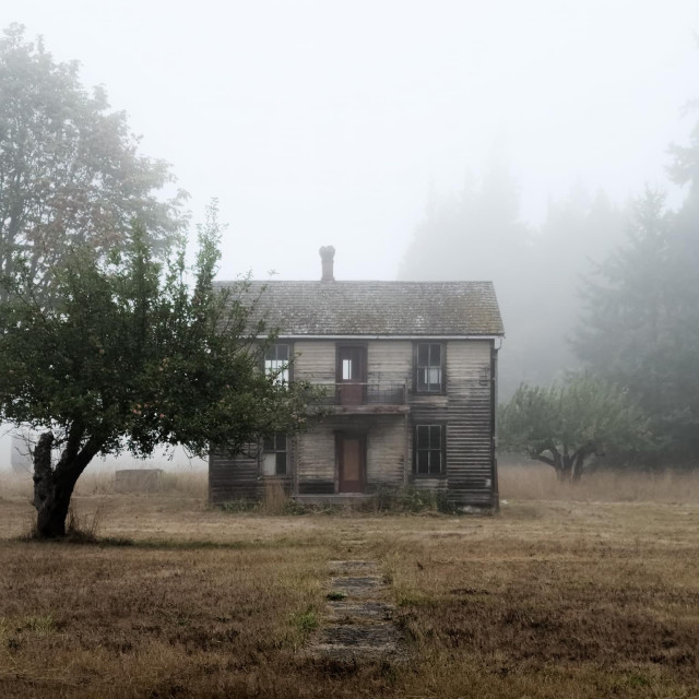 """Old house in Sequim Washington"" stock image"