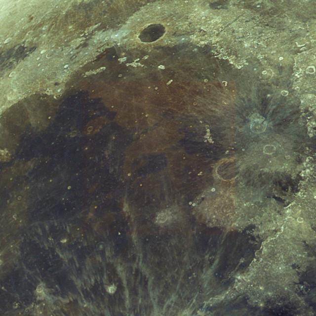"""Mare Imbrium in colour"" stock image"