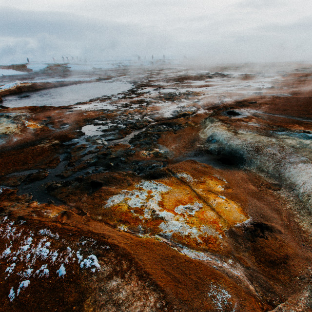 """""""Geothermal Colours"""" stock image"""