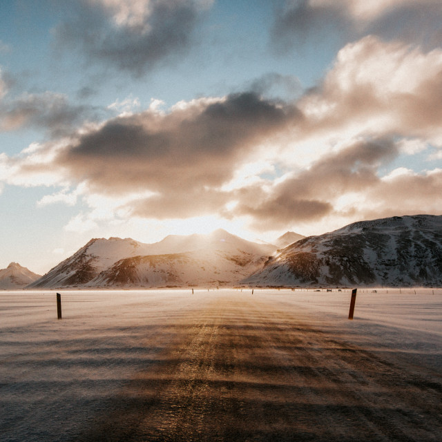 """Iceland Drive"" stock image"