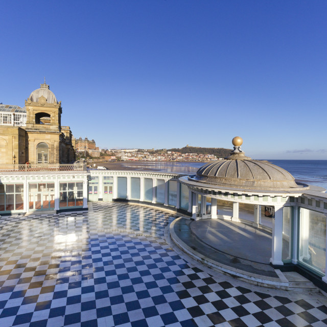 """""""The bandstand at Scarborough Spa"""" stock image"""