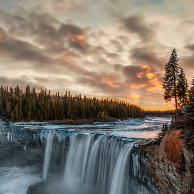 """Alexandra Falls"" stock image"