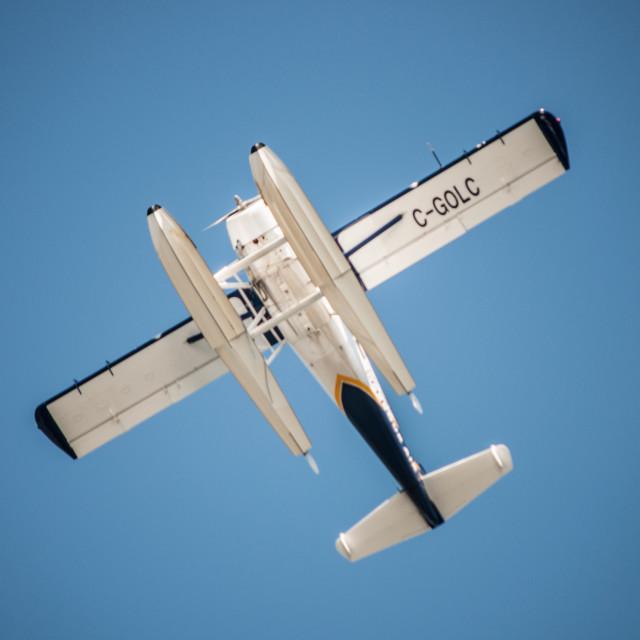 """Seaplane overhead"" stock image"