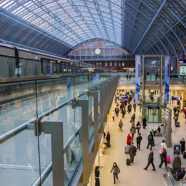 """St. Pancras Station, London"" stock image"