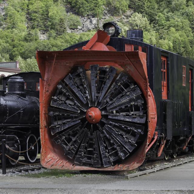 """Snow-blower locomotive"" stock image"