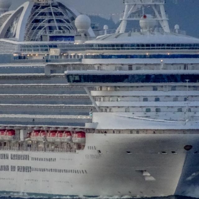 """Ruby Princess cruise ship"" stock image"