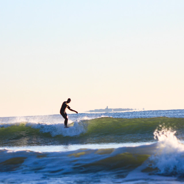 """""""Surfing NH"""" stock image"""