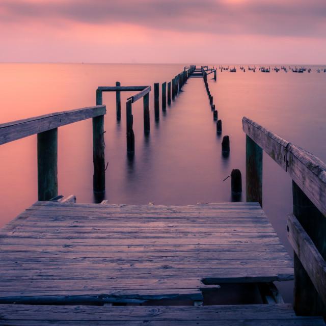 """""""Washed Away Sunrise"""" stock image"""