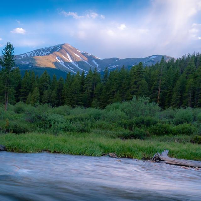 """""""Rushing Creek Mount Elbert"""" stock image"""