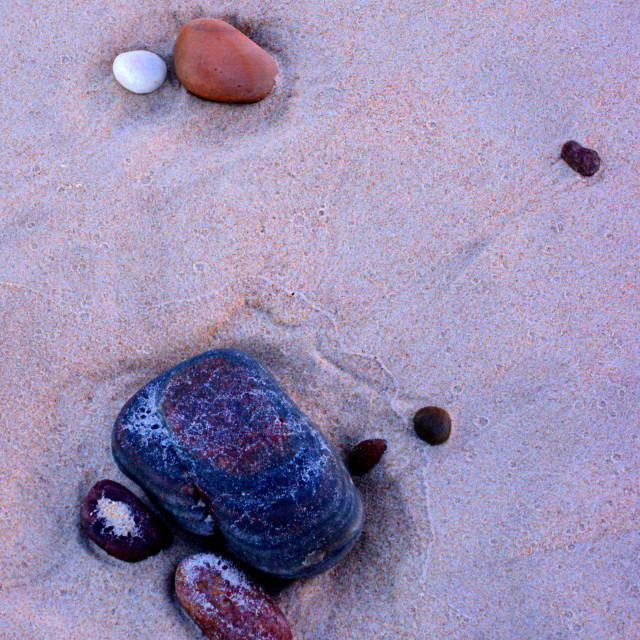 """""""Pebbles On A Beach"""" stock image"""