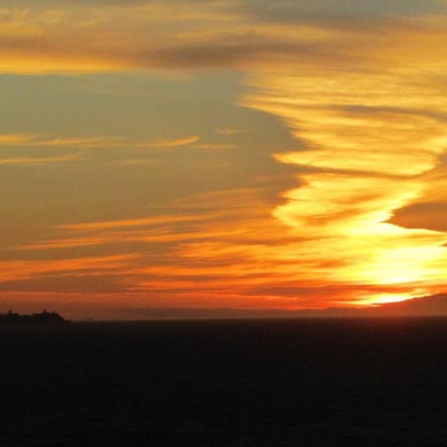 """""""Sequim Washington Sunset"""" stock image"""