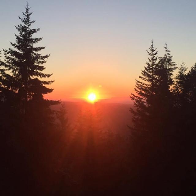 """""""Sunrise in Sequim Washington"""" stock image"""