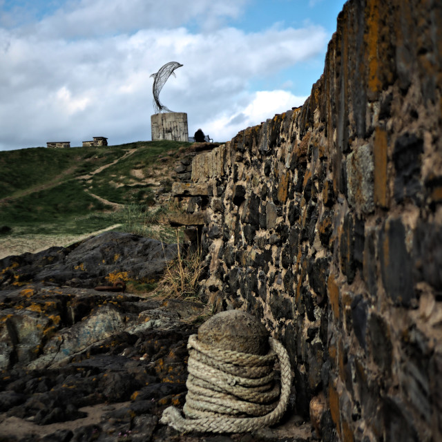 """""""Portsoy Sculpture"""" stock image"""