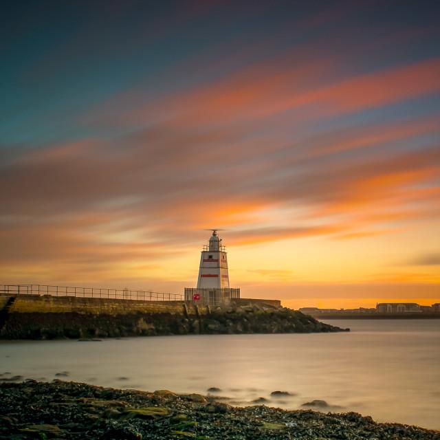 """Hartlepool sunset"" stock image"