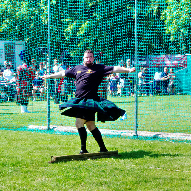 """""""Shot Putt Competitor"""" stock image"""