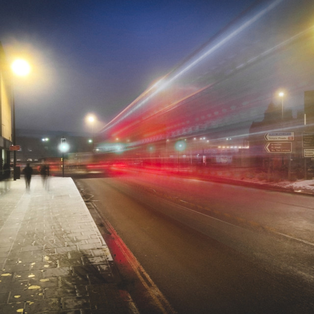 """City light trails"" stock image"