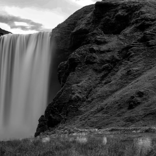 """Waterfall Skógafoss, Island"" stock image"