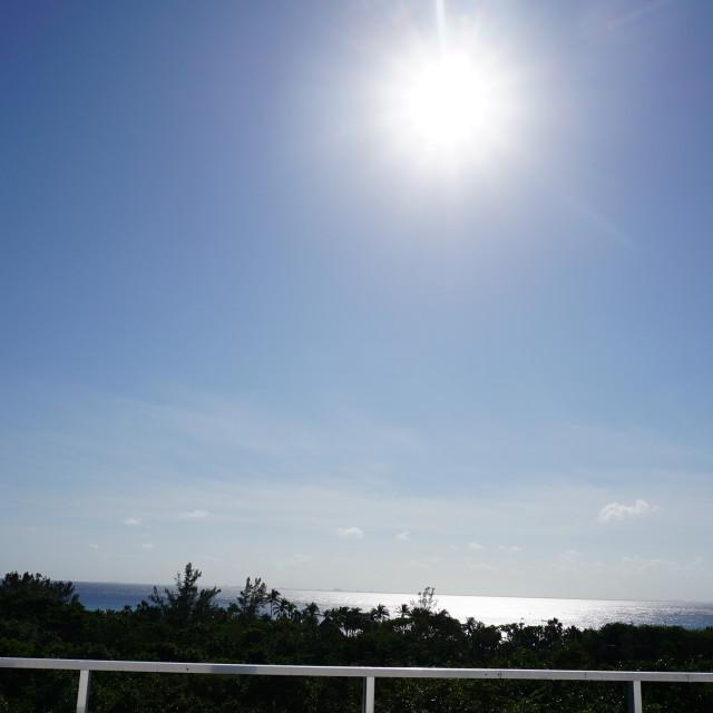 """Morning sun over the Caribbean Sea"" stock image"