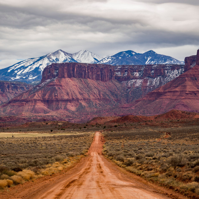 """Unbeaten Path - Castle Valley - Utah"" stock image"