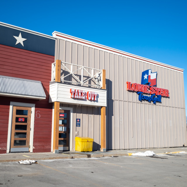 """""""Lone Star Texas Grill take-out entrance in Ottawa"""" stock image"""