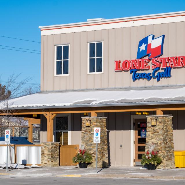 """Lone Star Texas Grill restaurant in Ottawa"" stock image"