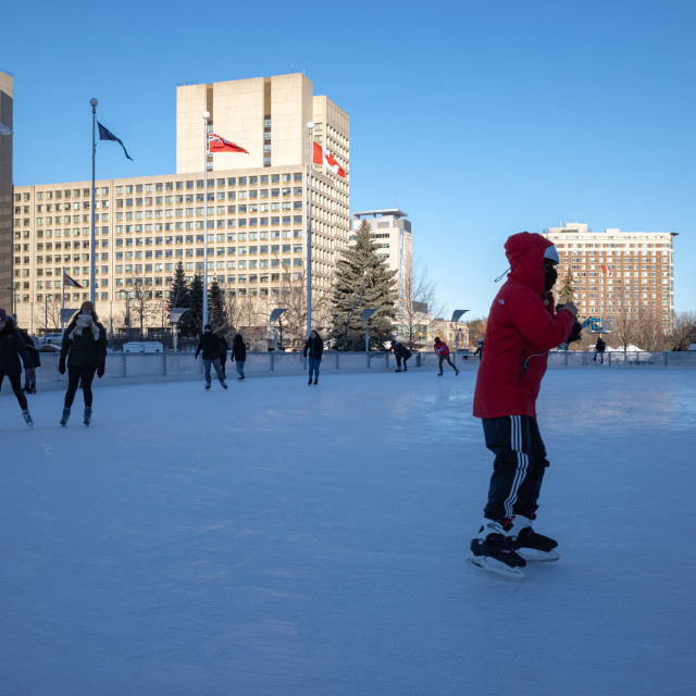 """Ottawa Skating on Rink of Dreams"" stock image"
