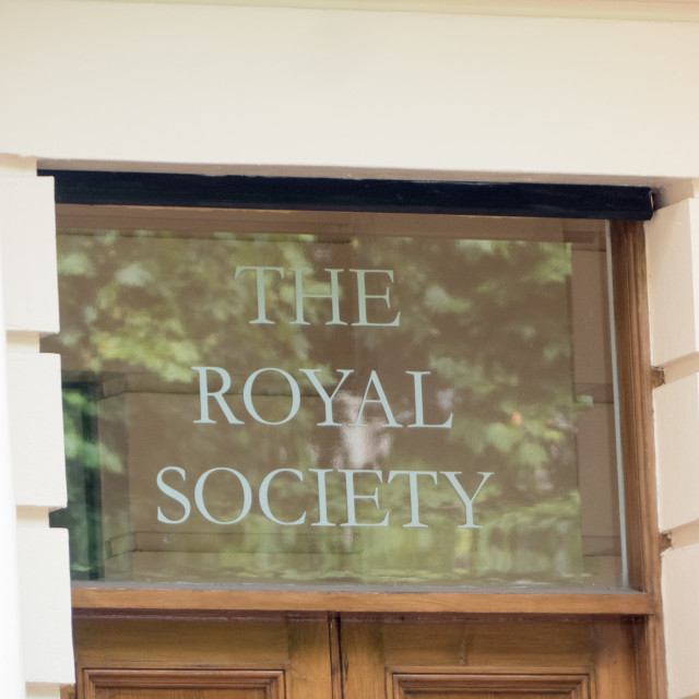 """The Royal Society"" stock image"