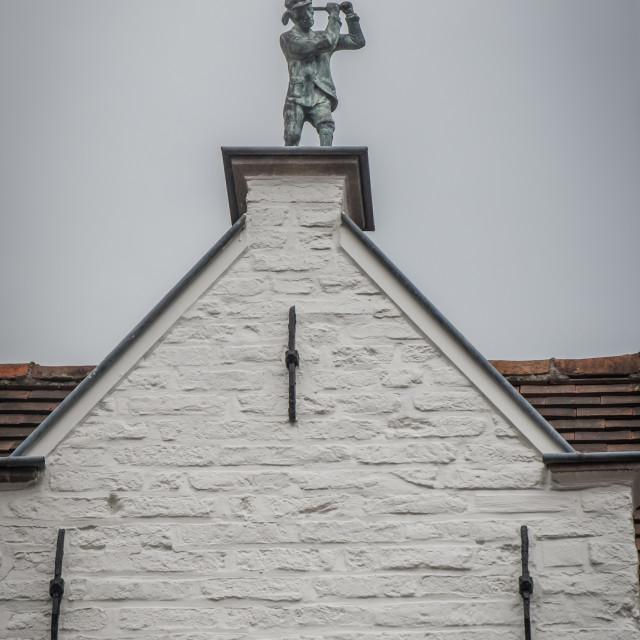 """""""Golfer statuette gable"""" stock image"""