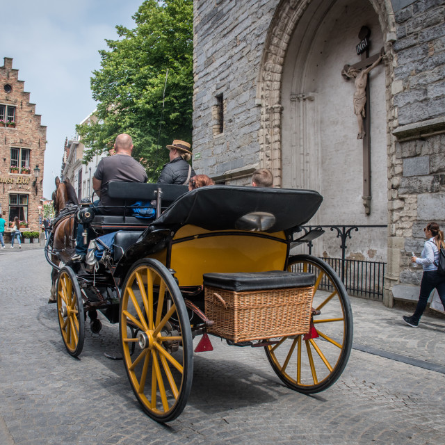 """""""Horse-drawn carriage"""" stock image"""