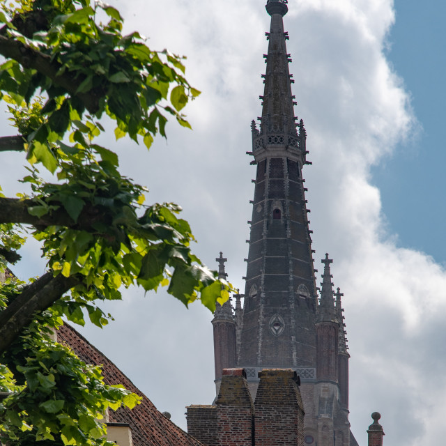 """""""Church of Our Lady steeple"""" stock image"""
