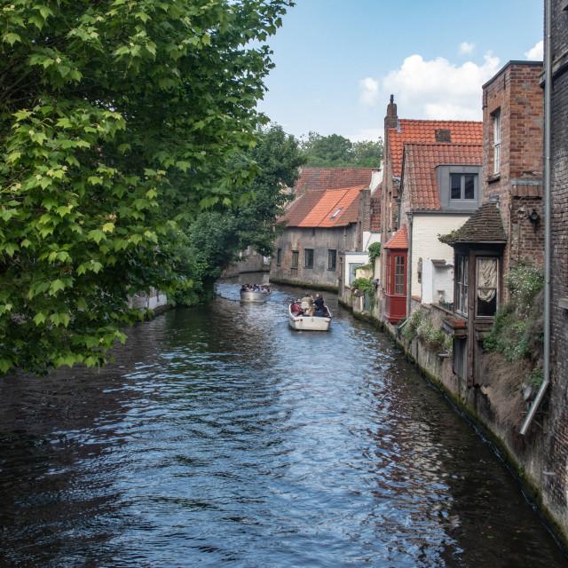 """Groenerei canal, Brugge"" stock image"