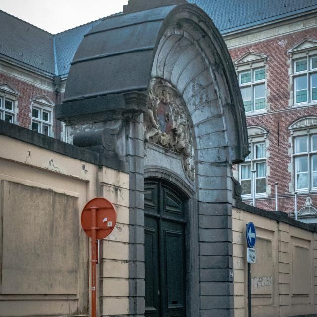 """Ornate arched entrance gate"" stock image"