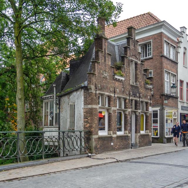 """Tiny house, Brugge"" stock image"